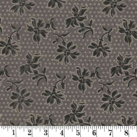 AH144 Blackwood Cottage - Dotted Floral Dark Gray preview