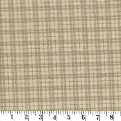 AH220 Woolie Flannel - Cream Plaid preview