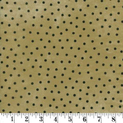 AH222 Woolie Flannel - Mustard with Black Dots preview