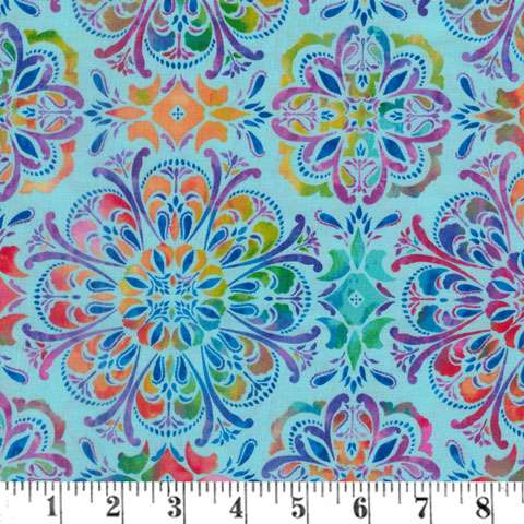 AH254 Butterfly Paradise - Geometric on Light Blue preview