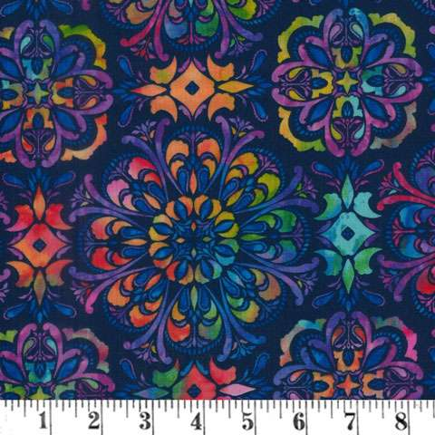 AH256 Butterfly Paradise - Geometric on Dark Blue preview