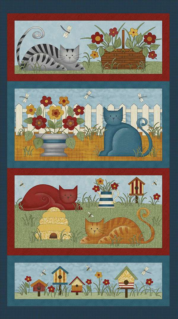 AH379 Colorful Cats - Panel 60cm preview