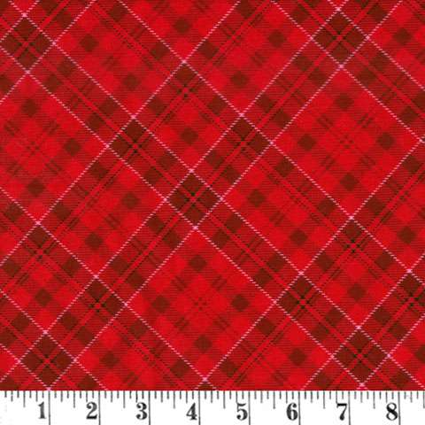 AH475 Fireside Kittens - Red Plaid preview