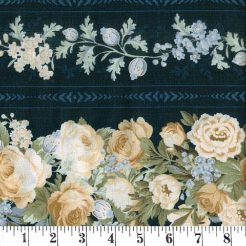 AH515 Sapphire Blossoms - Border Print preview