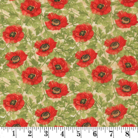 AH576 Harlequin Poppies - Cream Poppies preview