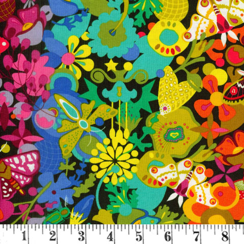 AH647 Art Theory - Bright Allover Floral & Butterflies preview