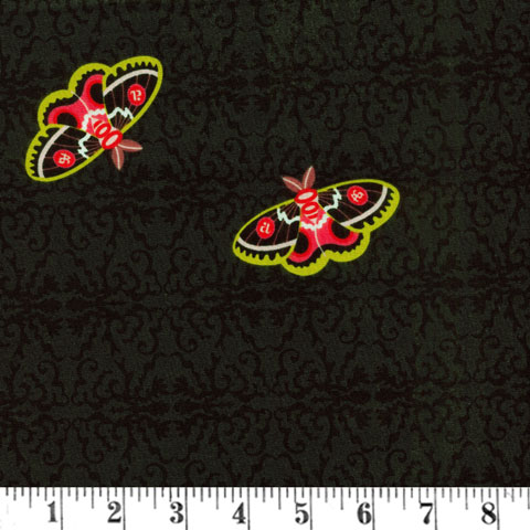 AH649 Art Theory - Scattered Butterflies on Black  preview