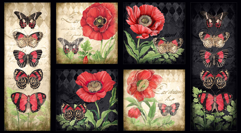 AH668  Harlequin Poppies - Craft Panel 60cm preview