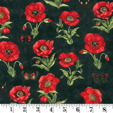 AH669 Harlequin Poppies - Black Butterfly preview