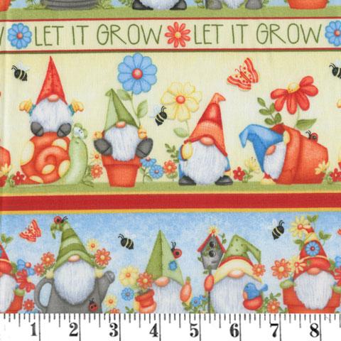 AH794 Gnome is Where the Garden Grows - Border  preview