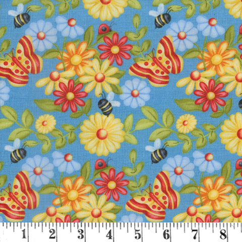 AH797 Gnome is Where the Garden Grows - Blue Butterfly Flower preview