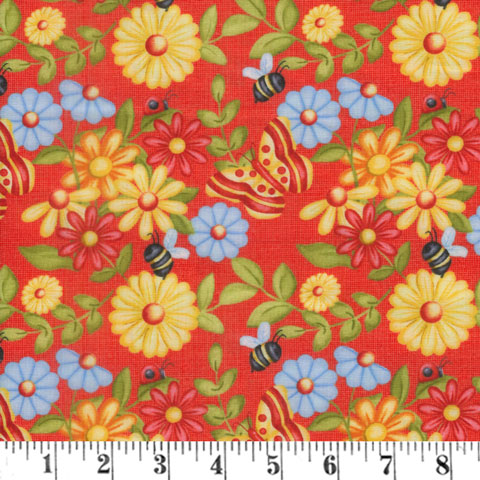 AH799 Gnome is Where the Garden Grows - Red Butterfly Flower preview