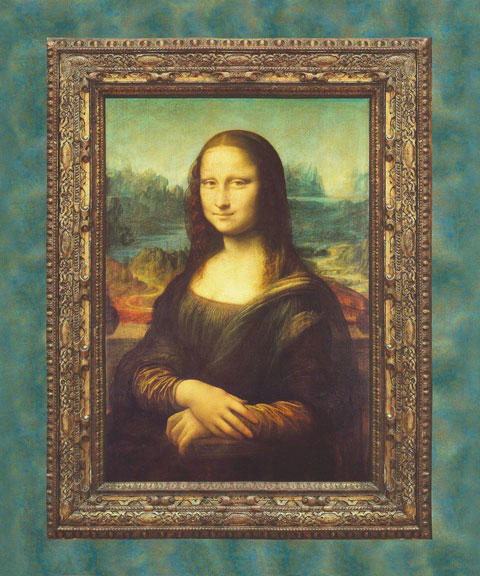 AH909 Leonardo Da Vinci - Antiqué Mona Lisa Panel 96cm preview
