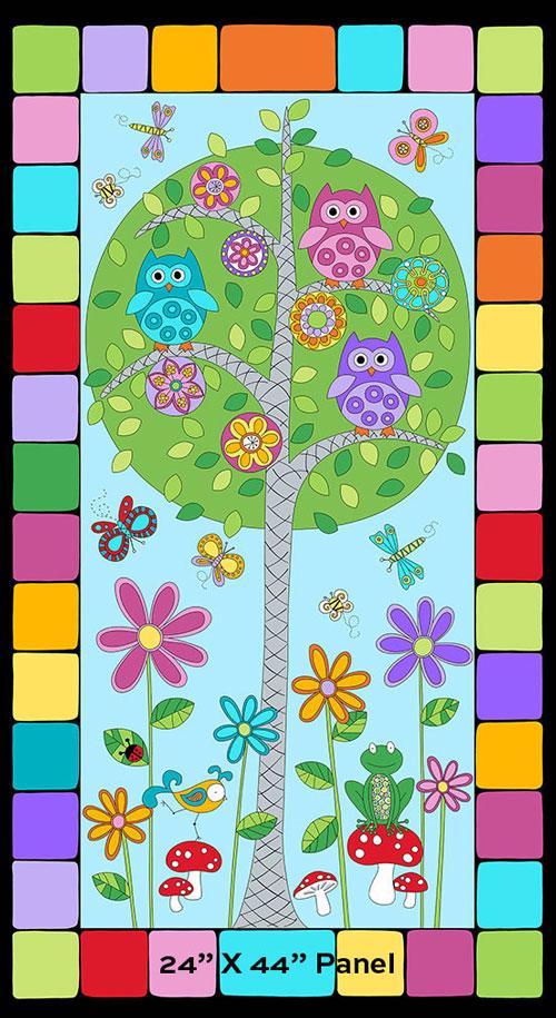 AJ024 Hoot Hoot - Family Tree Panel - Day 60cm preview