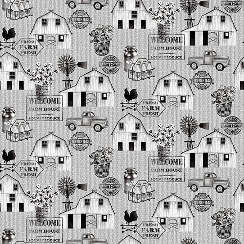 AJ036 Farmstead - Scattered Icons on Grey preview