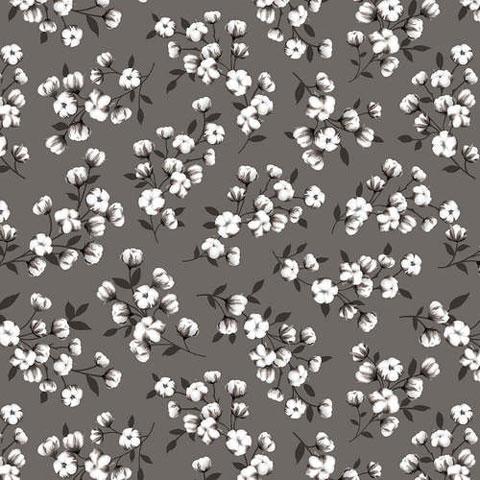 AJ042 Farmstead - Floral on Grey preview