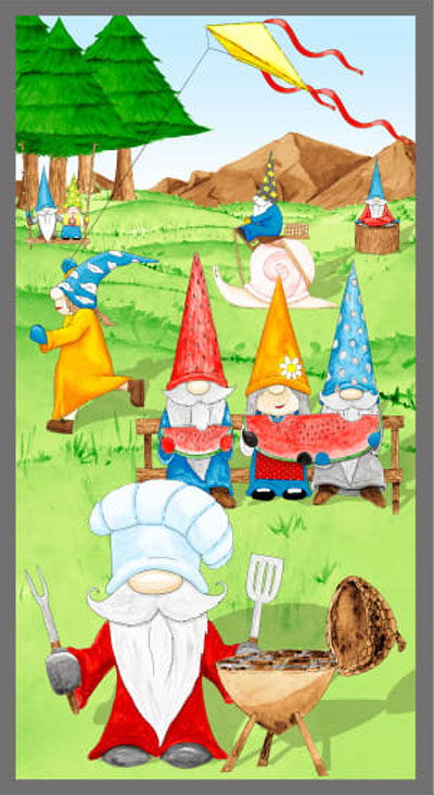 AJ052 Hangin' With My Gnomies - Panel 60cm preview