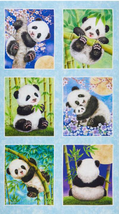 AJ104 Panda Sanctuary - Blocks 60cm - Panel preview