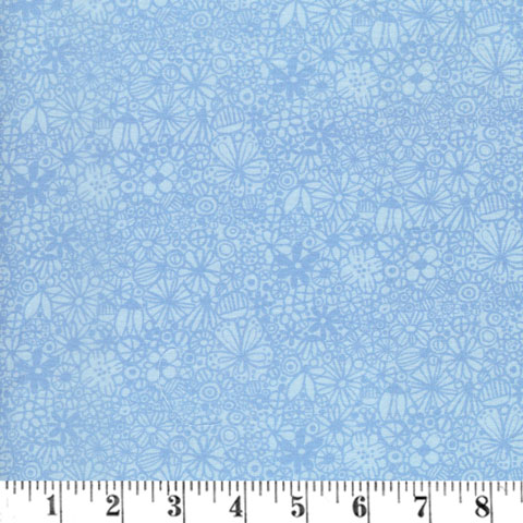 AJ151 Baby Buddies - Flowers Packed Blue preview