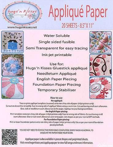 """Hugs' n Kisses Applique Paper - 20 Sheets 8.5"""" x 11"""""""