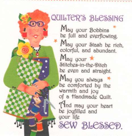 Quilter's Blessing Fabric Art Panel (6in x 6in)