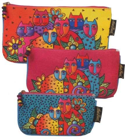 Feline Clan Cosmetic Bag Set by Laurel Burch