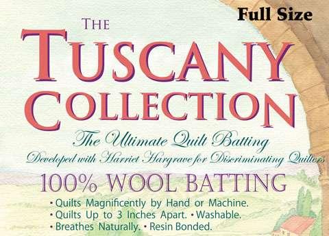 Tuscany 100% Wool Batting - Full (81 inch x 96 inch)
