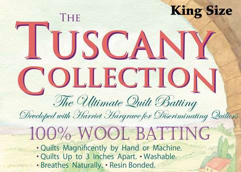 Tuscany 100% Wool Batting - King (120 inch x 120 inch)