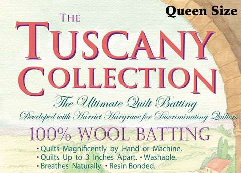 Tuscany 100% Wool Batting - Queen (96 inch x 108 inch)