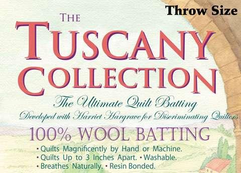 Tuscany 100% Wool Batting - Throw (60 inch x 60 inch)