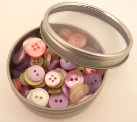 Haberdashery Button Tins - Victorian