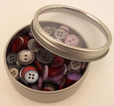Haberdashery Button Tins - Vintage
