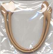 12 inch Bag Handles - leather like - beige