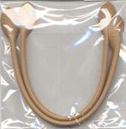 12 inch Bag Handles - leather like - beige