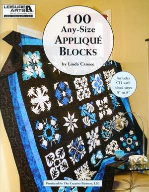 100 Any Size Applique Blocks by Linda Causee (Book)