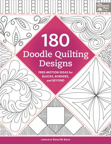 180 Doodle Quilting Designs by Karen Burns (Book)