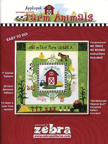 Applique Farm Animals (Book)