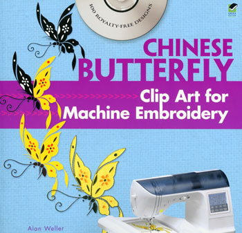 Chinese Butterfly Clip Art for Machine Embroidery (Book)