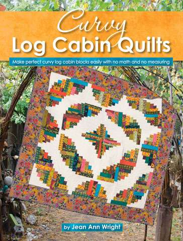 Curvy Log Cabin Quilts by Jean Ann Wright (Book)