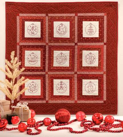 Christmas Patchwork Loves Embroidery By Gail Pan Book