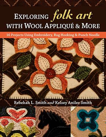 Exploring Folk Art with Wool Application & More (Book) preview