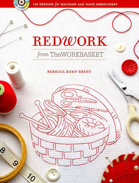 Redwork from The Workbasket by Rebecca Kemp Brent (Book)