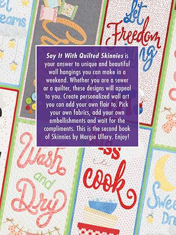Say it with Quilted Skinnies by Margie Ullery (Book) preview
