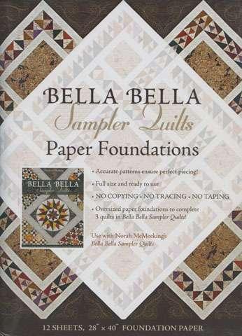 Bella Bella Sampler Quilts Paper Foundations by Norah McMeeking