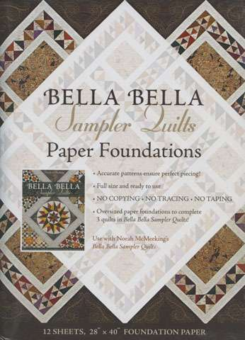 Bella Bella Sampler Quilts Paper Foundations by Norah McMeeking