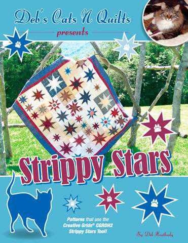 Strippy Stars by Deb's Cats N Quilts (Book)