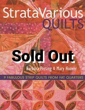 Strata Various Quilts by Barbara Persing & Mary Hoover -Book DISCONTIN : stratavarious quilts - Adamdwight.com