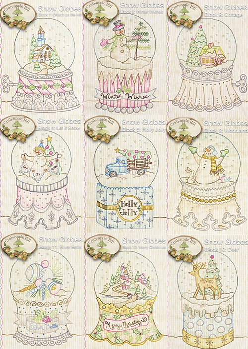 Snow Globes Embroidery Quilt preview