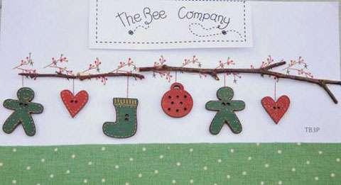 Christmas Garland - Wooden Buttons