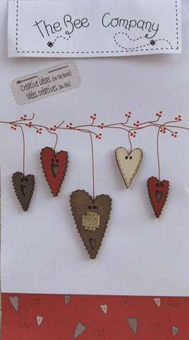 Hearts - Wooden Buttons